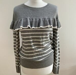 TinaJo by Anthropologie lightweight ruffle sweater